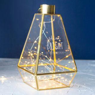 "Cathy's Concepts ""Shine Bright"" Geometric Lantern Table Decor"