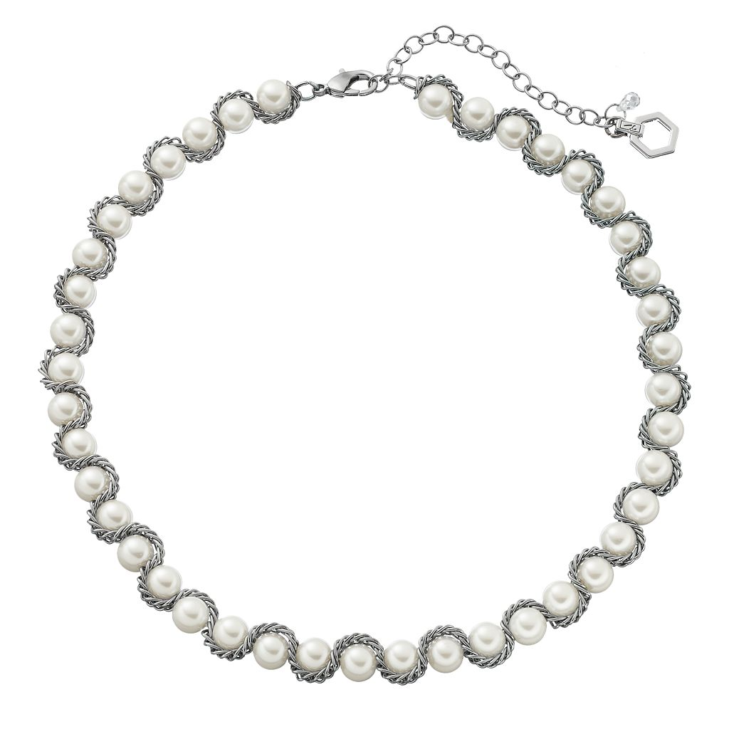 Simply Vera Vera Wang Chain Wrapped Simulated Pearl Necklace