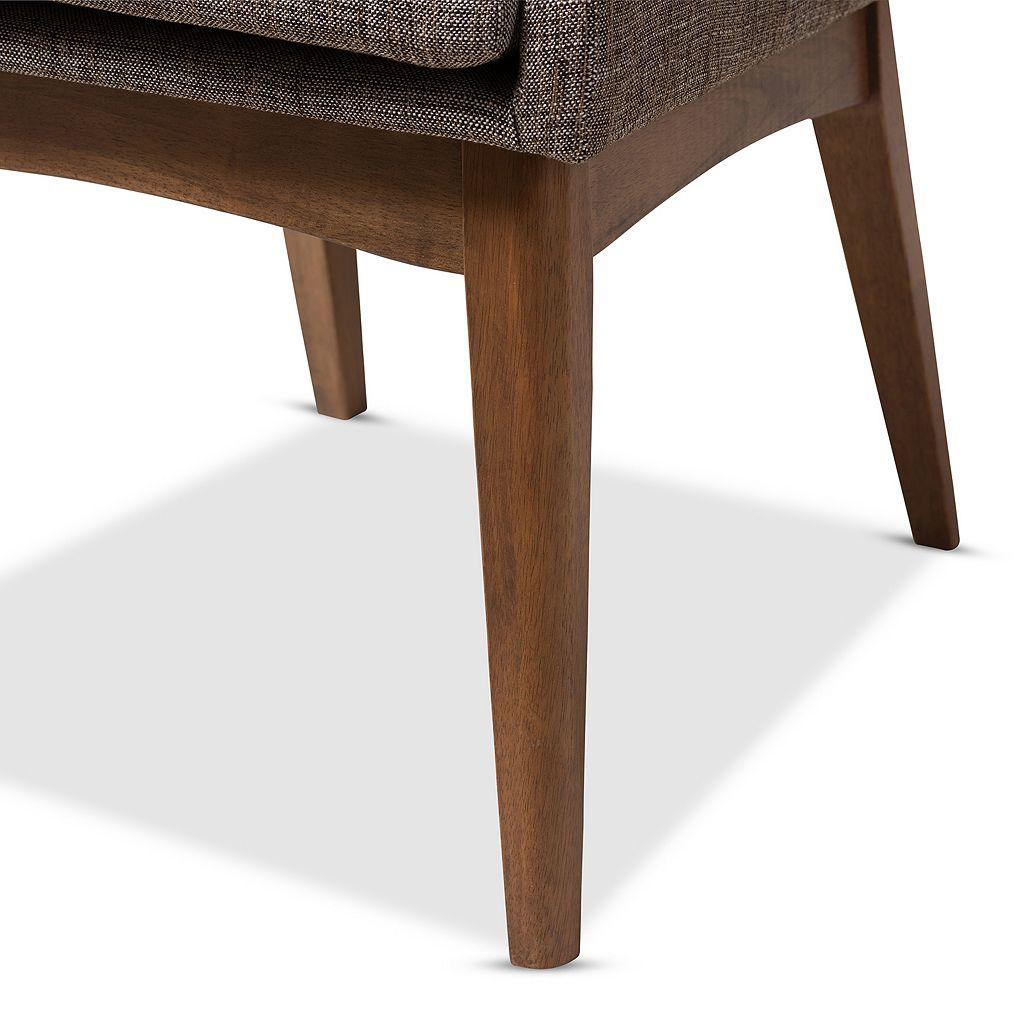 Baxton Studio Mid-Century Modern Armless Dining Chair 2-piece Set
