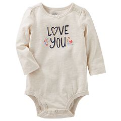 Baby Girl OshKosh B'gosh® 'Love You' Bodysuit