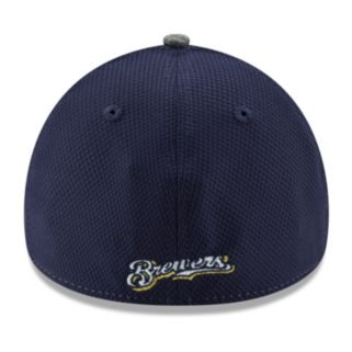 Adult New Era Milwaukee Brewers 39THIRTY Shadow Blocker Fitted Cap