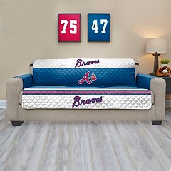 Atlanta Braves Quilted Sofa Cover