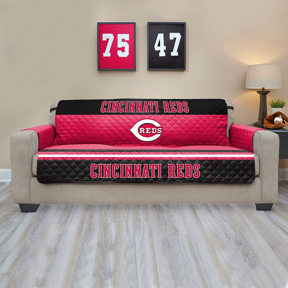 Reds Quilted Sofa Cover : quilted sofa - Adamdwight.com