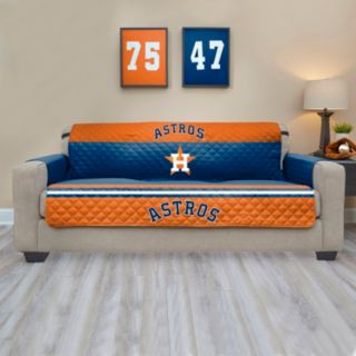 Houston Astros Quilted Sofa Cover