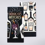 Celebrate Halloween Together Drink Up Witches Kitchen Towel 2-pk.