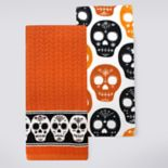 Celebrate Halloween Together Sugar Skull Kitchen Towel 2-pk.