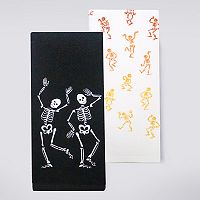Celebrate Halloween Together Skeletons Kitchen Towel 2-pk.
