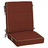 Bombay® Outdoors Pompas Texture Adjustable Comfort Reversible Chair Cushion