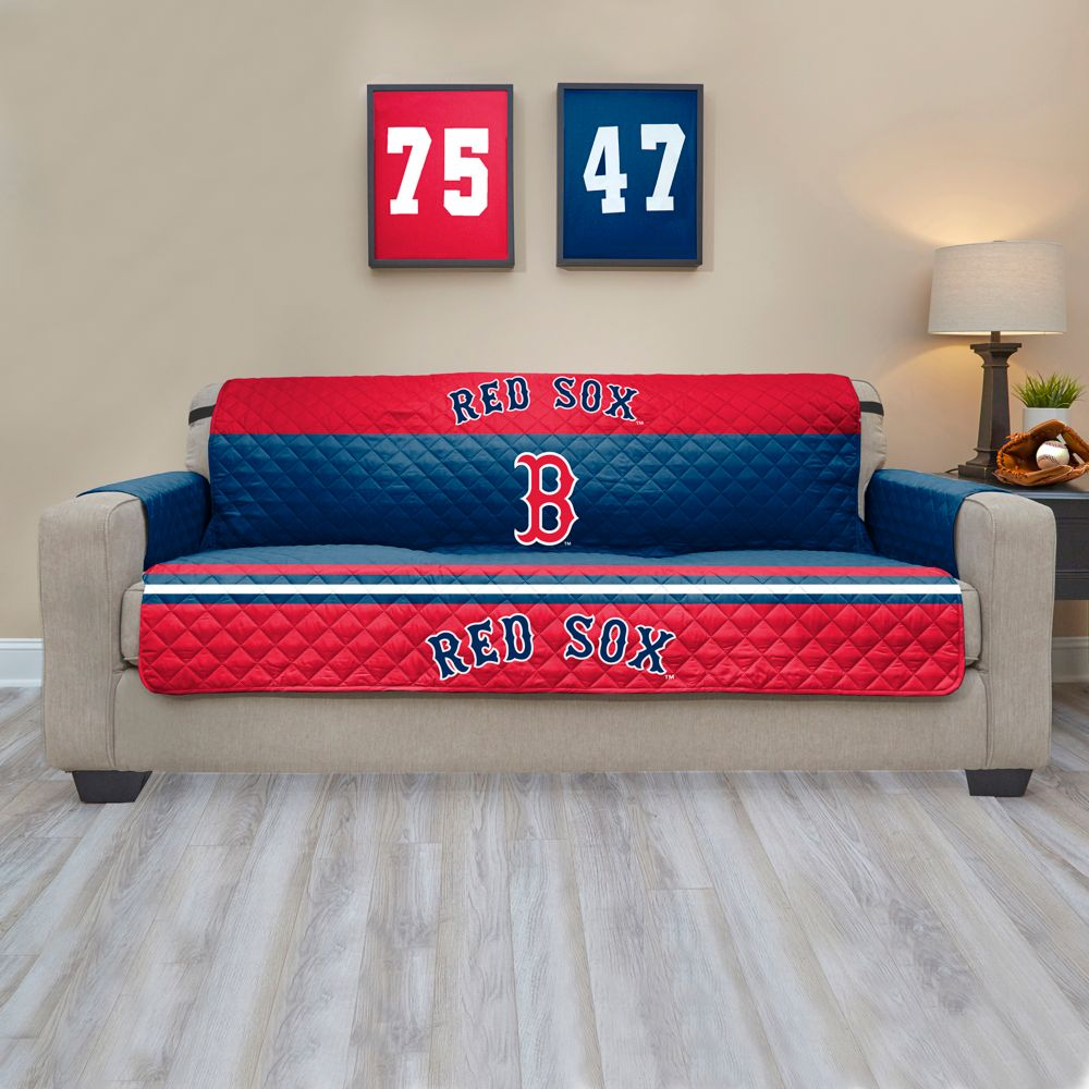 Red Sox Quilted Sofa Cover