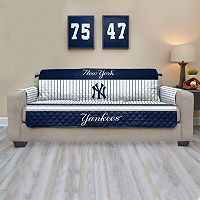 New York Yankees Quilted Sofa Cover