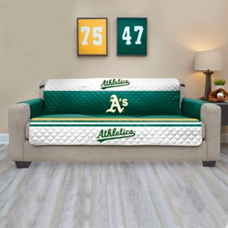 Oakland Athletics Quilted Sofa Cover