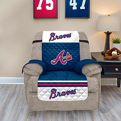 Atlanta Braves Quilted Recliner Chair Cover