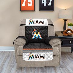 Miami Marlins Quilted Recliner Chair Cover