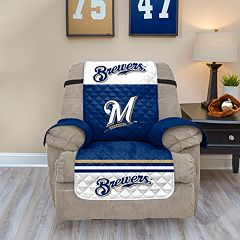 Milwaukee Brewers Quilted Recliner Chair Cover