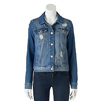 Juniors' Mudd® Ripped Jean Jacket