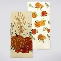 Celebrate Fall Together Pumpkins Kitchen Towel 2-pk.