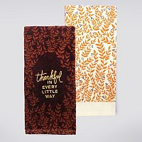 Celebrate Fall Together Thankful Kitchen Towel 2-pk.