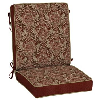 Bombay® Outdoors Venice Damask Snap Dry Reversible Chair Cushion