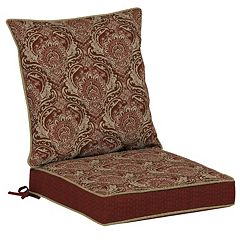 Bombay® Outdoors Venice Damask Reversible Dining Chair Cushion Set