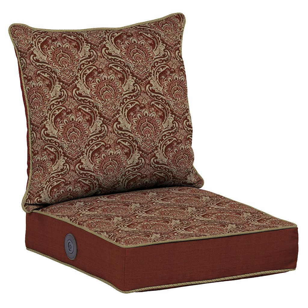 Bombay® Outdoors Venice Damask Adjustable Comfort Reversible Deep Seat Chair Cushion Set