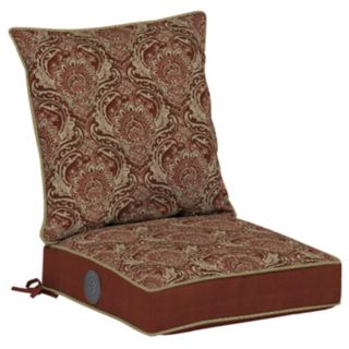 Bombay® Outdoors Venice Damask Adjustable Comfort Reversible Dining Chair Cushion Set