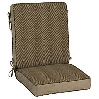 Bombay® Outdoors Zebra Pattern Snap Dry Reversible Chair Cushion