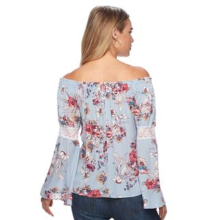 Women's Double Click Off-the-Shoulder Lace Top