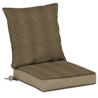 Bombay® Outdoors Zebra Pattern Snap Dry Reversible Dining Chair Cushion Set