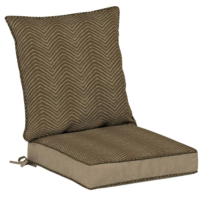 Bombay® Outdoors Zebra Pattern Snap Dry Reversible Dining Chair Cushion Set, Brown -  Bombay Outdoors, NE84086A-D9B1