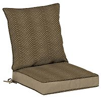 Bombay® Outdoors Zebra Pattern Reversible Dining Chair Cushion Set