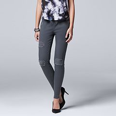 Women's Simply Vera Vera Wang Ripped Denim Leggings