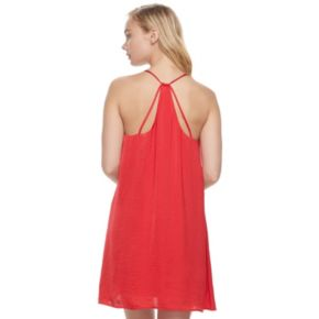Juniors' Lily Rose Satin Slip Dress