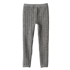 Girls 4-16 Skinny Cable Knit Fleece-Lined Seamless Leggings