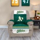 Oakland Athletics Quilted Recliner Chair Cover