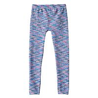 Girls 4-16 Space-Dyed Fleece-Lined Seamless Leggings