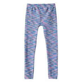 Girls 4-16 Space-Dyed Fleece-Lined Seamless Leggings