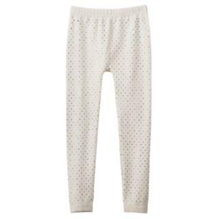 Girls 4-16 Iridescent Foil Heart Pattern Fleece-Lined Seamless Leggings