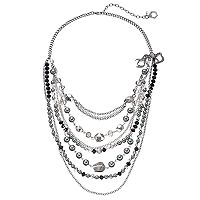 Simply Vera Vera Wang Two Tone Beaded Swag Necklace