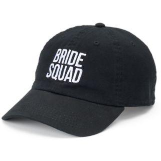 """Women's David & Young """"Bride Squad"""" Denim Baseball Cap"""