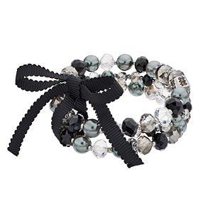 Kohls Black Bead Fashion Y Necklace