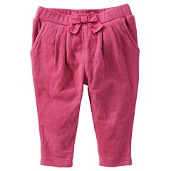 Baby Girl OshKosh B'gosh® Bow Front Knit Pull-On Pants