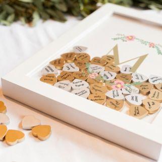 Cathy's Concepts Monogram Shadowbox Heart Drop Guestbook 101-piece Set