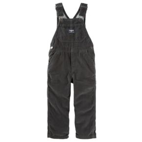 Baby Boy OshKosh B'gosh® Corduroy Jersey-Lined Black Overalls
