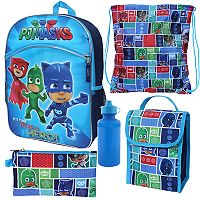Kids PJ Masks Catboy, Owlette & Gekko 5-pc. Backpack, Lunch Box & Accessory Set