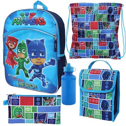 Kids PJ Masks Catboy, Owlette & Gekko 5-pc. Backpack, Lunch Box & Accessory Set