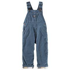 Baby Boy OshKosh B'gosh® Corduroy Flannel-Lined Overalls