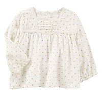 Baby Girl OshKosh B'gosh® Polka-Dot Swing Top
