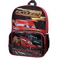 Disney / Pixar Cars Lightning McQueen Backpack & Lunch Bag Set