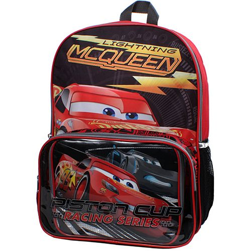 ec92d1a5677 Disney   Pixar Cars Lightning McQueen Backpack   Lunch Bag Set