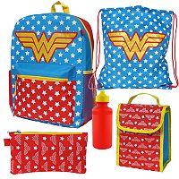 DC Comics Wonder Woman 5-pc. Backpack Set